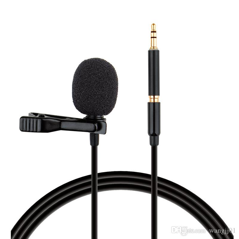Mini Condensador de Microfone Clip-on Laplel Lavalier Mic Mikrofo / Microfon para telefone para Microfone Laptop 3.5mm Jack USB Mic