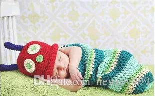 Nouvel enfant photo couleur tissu mignon vêtements / laine à la main à tricoter / bébé pleine lune photo vêtements