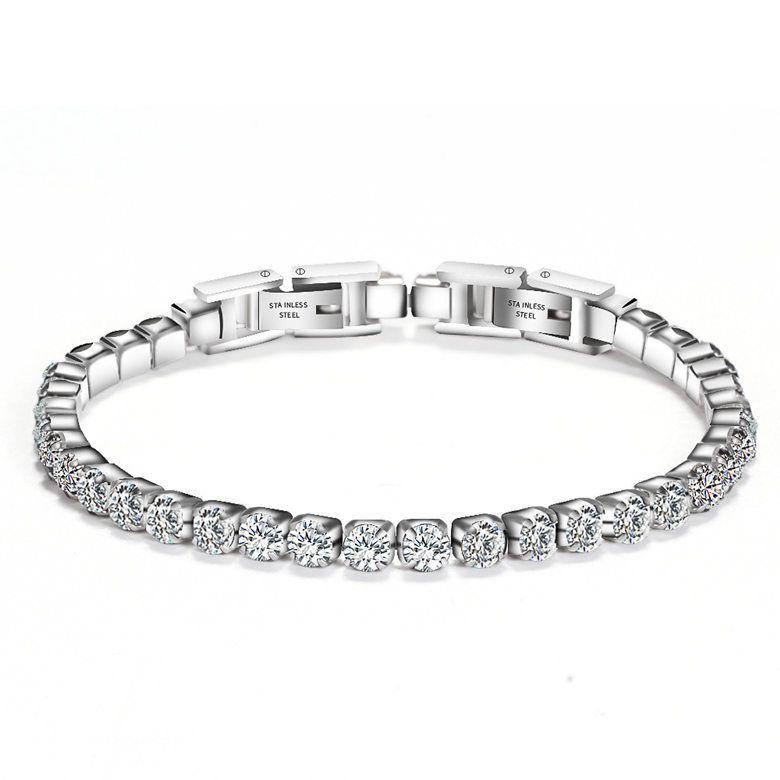 Tennis monili dei braccialetti 2019 donne Bracciali di alta qualità zircone nuovo modo breve all'ingrosso dell'acciaio Donne Bracciali acciaio collana LBR041