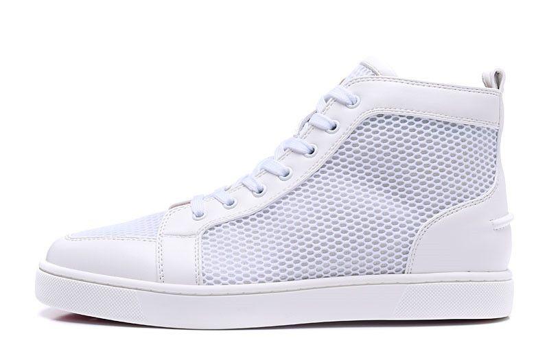 Designer di fascia alta personalizzato rosso fondo casual sneaker designer scarpe chiodo pieno economici pattini a rulli scarpe basse a fondo piatto per la vendita bianco