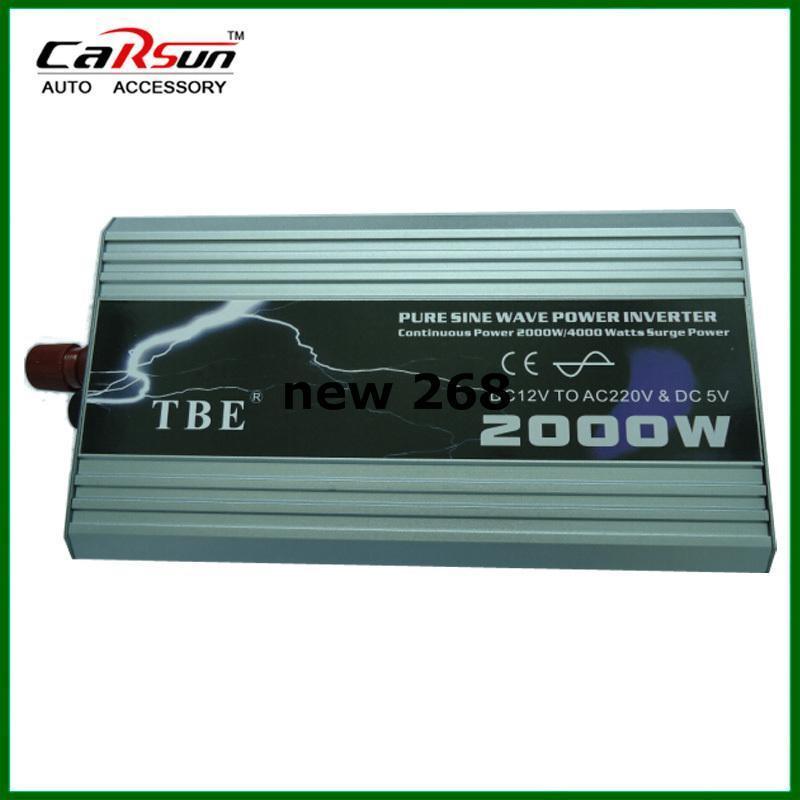 Freeshipping 2000W чисто инвертор волны синуса DC-AC 12/24V/48 к 110V / 220V польза для солнечного или домашнего для кондиционера холодильника