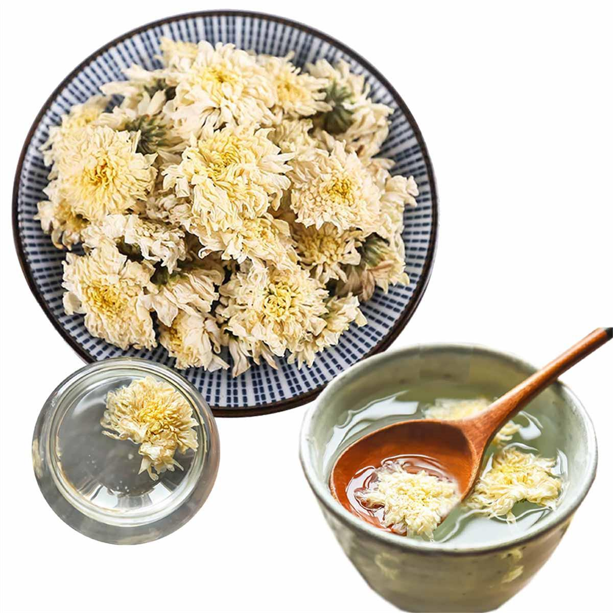 Премиальный Цветочный Чай Белая Хризантема Новый Ароматизированный Чай Здравоохранение Цветы Чай Китай Желтая Горная Хризантема Здоровая Зеленая Пища