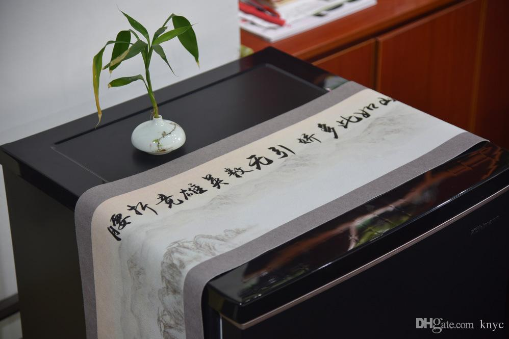 Acheter Chinois Style Classique Calligraphie Shanshui Peinture Table De The Coureur Inn Lit Serviette Meuble Tv Table A The Serviette Exquise