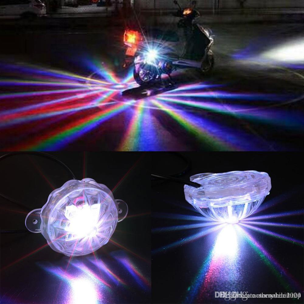 유니버셜 LED 자동차 오토바이 섀시 테일 라이트 LED 레이저 안개 조명 TILLIGHT 안티 안개 주차 중지 브레이크 경고 램프 소매 패키지