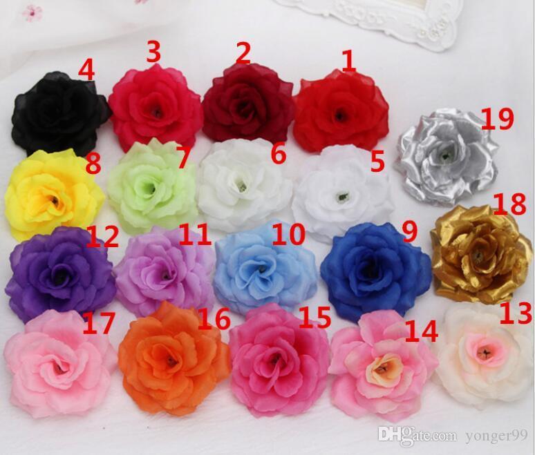 Новый искусственный цветок розы головы ткань декоративные цветы украшения свадьбы стены цветок букет белый искусственный букет роз букет 8 см