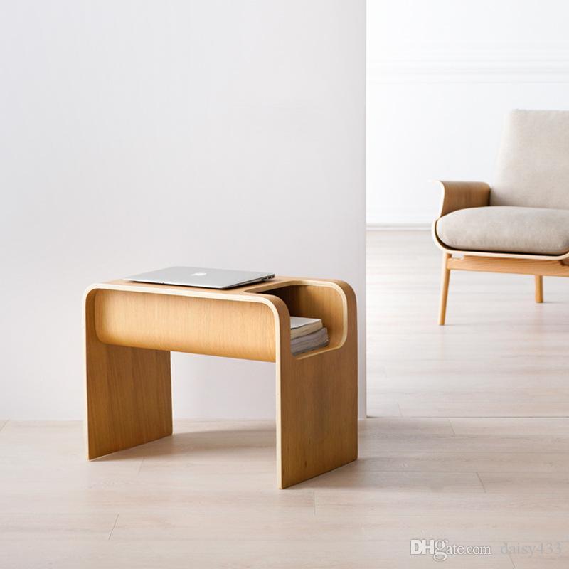 meuble de rangement armoire en bois massif nordique petit mobilier petit appartement de petite table basse ins