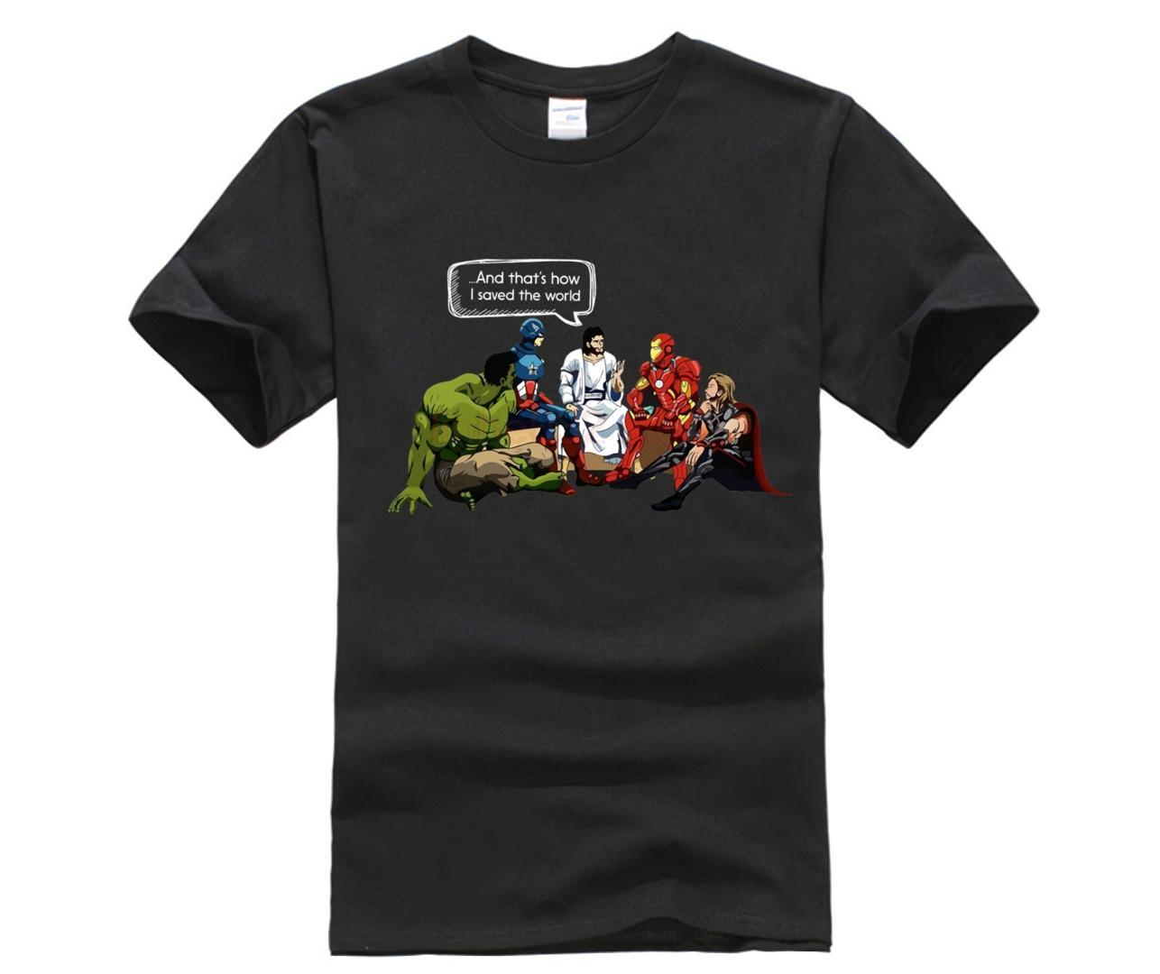 And That'S How I Saved The World T Shirt Jesus And Superheroes Christian New