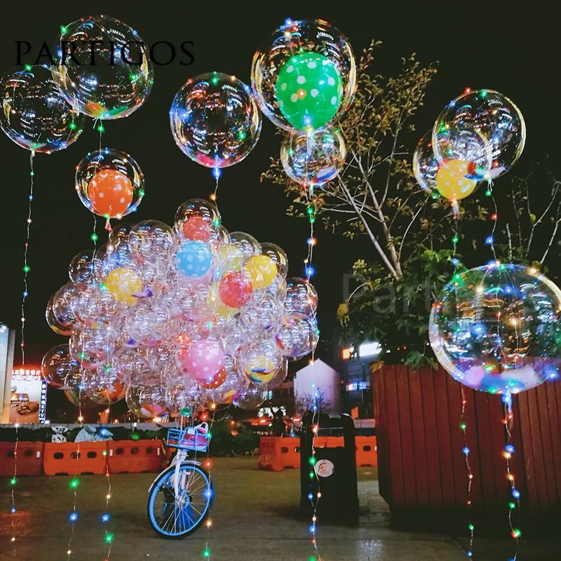 Прозрачный ПВХ пузырь воздушные шары Led Bobo прозрачный гелий без света Globos день рождения свадьба декор День святого Валентина подарки