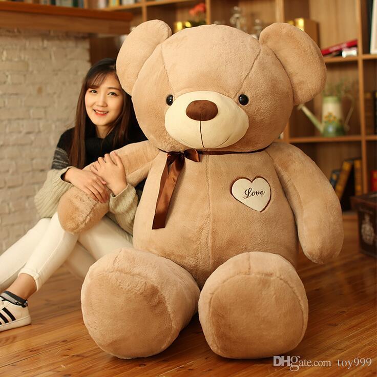 Übergroße Plüschtier Teddybär Puppe 40-180cm Mit Fliege Großer Teddybär