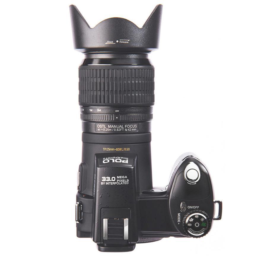 كاميرا كاميرا رقمية لعبة البولو الرقمية HD 1080P 33MP 24X زووم بصري ضبط تلقائي للصورة الفنية الرقمية SLR كاميرا كاميرا + 3 عدسة D7100