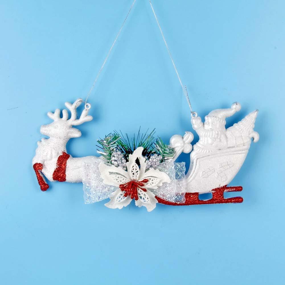 Nuovi addobbi natalizi per la casa Carrelli per cervi in plastica Ornamenti Articoli per Natale Accessori per la casa