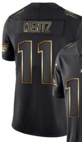 Vapeur Limitées Golden Black Jersey Philadelphie Hommes 10 11 86 Chemises jersey Toutes les équipes maillots de football américain