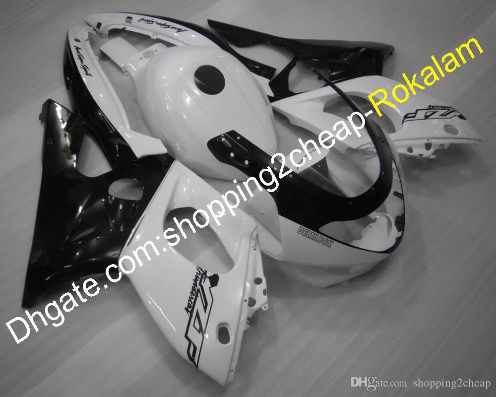 Kit carrosserie Moto 97-07 YZF600R Carénage plastique ABS pour Yamaha YZF 600R Thundercat 1997-2007 Noir Blanc Carénage de carrosserie