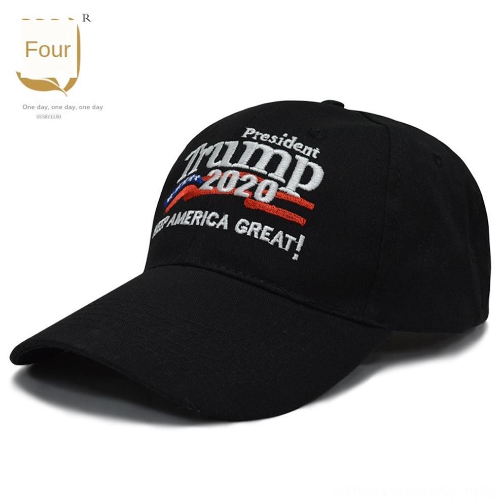 OVJYa moda Makyaj Trump 2020 şapka Beyzbol şapkası Donald Amerika Büyük Tekrar Başkan Şapka Nakış 3D Trump Parti Malzemeleri Caps