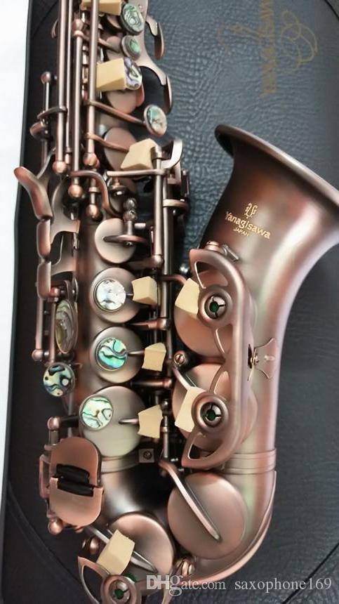 Tallado a mano Japón Yanagisawa S-992 Instrumento de saxofón soprano de alta calidad Música Saxofón soprano Profesional