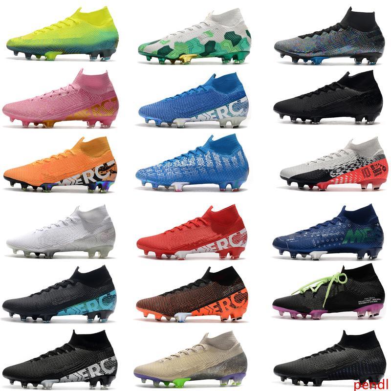 2020 New Mercurial Superfly 7 Elite SE FG Neymar Ronaldo Mens Soccer Cleats Cheapest Soccer Shoes ACC Mens Football Boots Scarpe Da Calcio