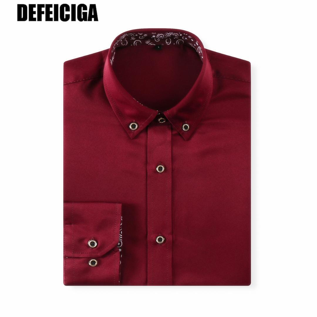 2019 Fashion New Mens Dress Shirt Men Long Sleeve Solid Color Striped Style Plus Size 4XL 5XL 6XL 7XL
