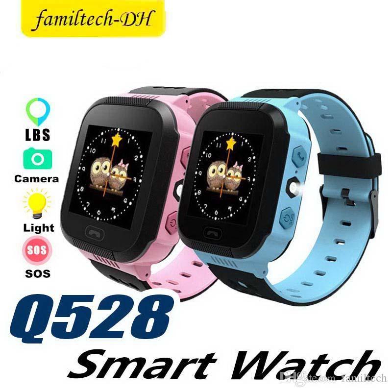 Q528 Touch Screen LBS Tracker Watch Anti-lost Children Kids Smart watch Wrist Watchs SOS Call For Android IOS With Remote Camera