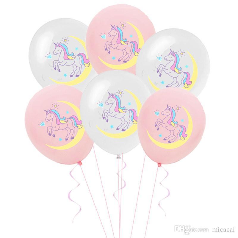 100pcs Unicorn Balon doğum günü partisi Bebek Düğün Dekorasyon Lateks Balon Parti Dekorasyon Malzemeleri