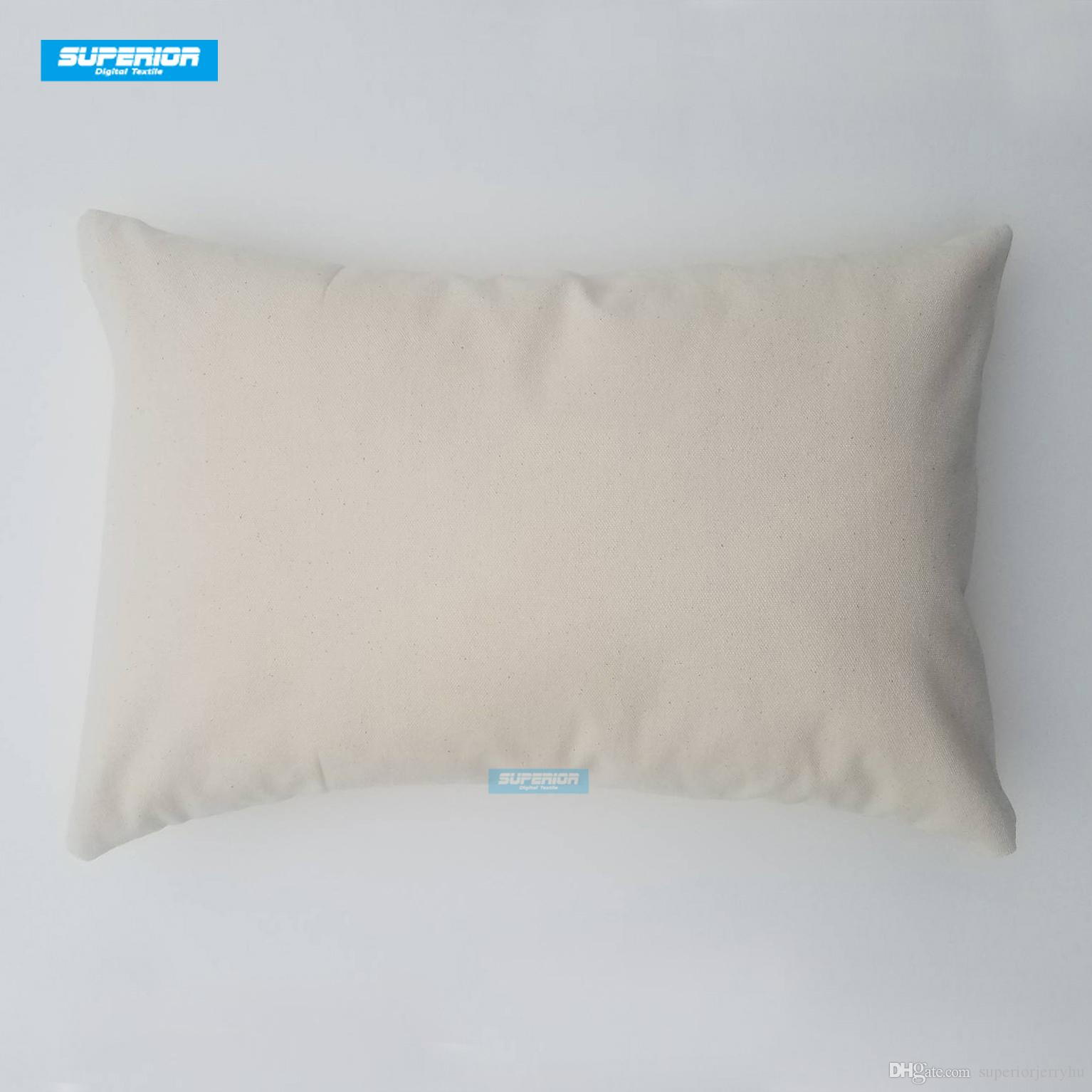 100pcs 12x18 inches Wholesale 8oz WHITE or NATURAL Cotton Canvas Pillow Cover Blanks Perfect For Stencils /Painting /Embroidery /HTV