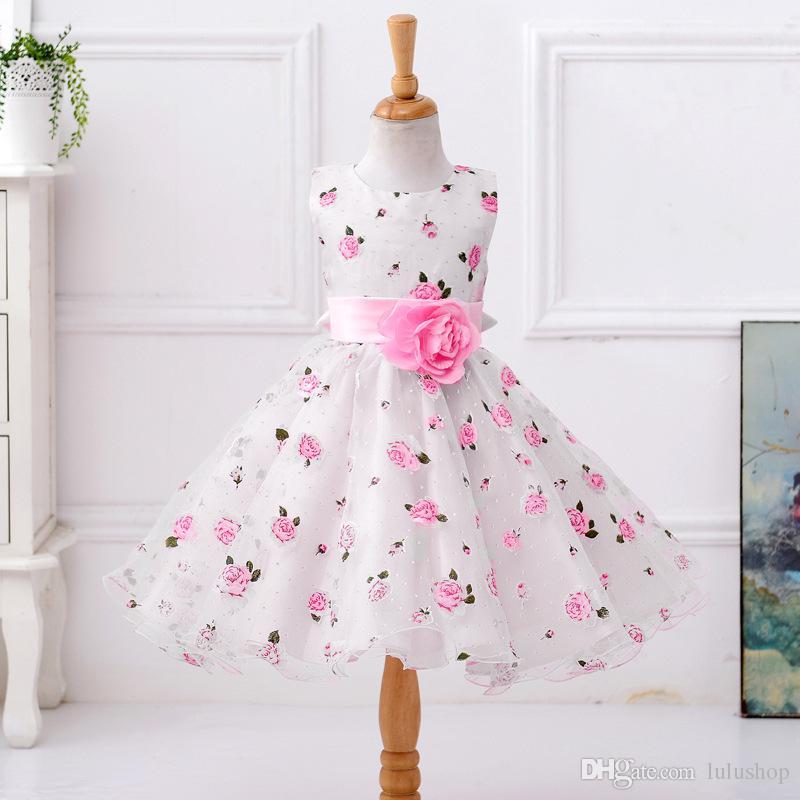 Yaz Tutu Elbise Kız Elbise Çocuk Giyim Düğün Olaylar Çiçek Kız Elbise Doğum Günü Partisi Kostümleri Çocuk Giyim 8 T
