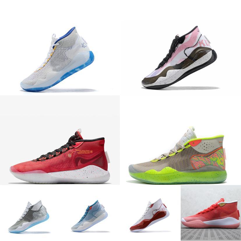 barato mens kd 12 tênis de basquete kds cortes altos branco azul laranja preto vermelho rosa new arrivals kd12 tênis kevin durant xii tênis com caixa