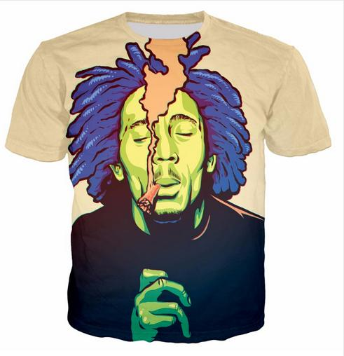 Casual uomo Womans Bob Marley 3D HD Stampa T-shirt Estate a maniche corte T-shirt O-Collo Stile di modo Unisex Shirt Marca Tees DX041