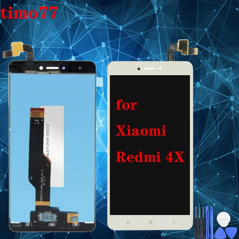 سوبر الجودة LCD للXIAOMI Hongmi Redmi 4X شاشة العرض LCD التي تعمل باللمس بدون إطار استبدال الجمعية 100٪ اختبارها والتسليم السريع