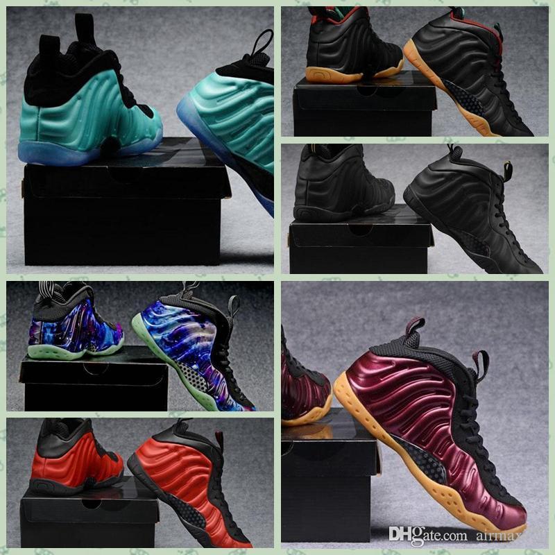 Nike Air Foam posite One 2019 Hot Penny Hardaway Homens Sapatos ao ar livre Galáxia Alternativa Espuma De Berinjela Mens Tênis Esportivos Uma Noite Marrom Formadores de Goma Ar