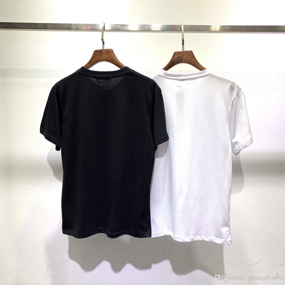 2019 T-shirt a maniche corte stampata patchwork stampa petto estivo sia per uomo che per donna