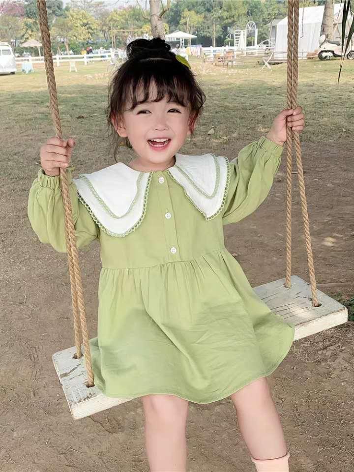 2020 Ragazze molla del vestito e vestito estivo femminile bambino coreano vestito da autunno nuovo pannello esterno dei bambini style1910503317 occidentale