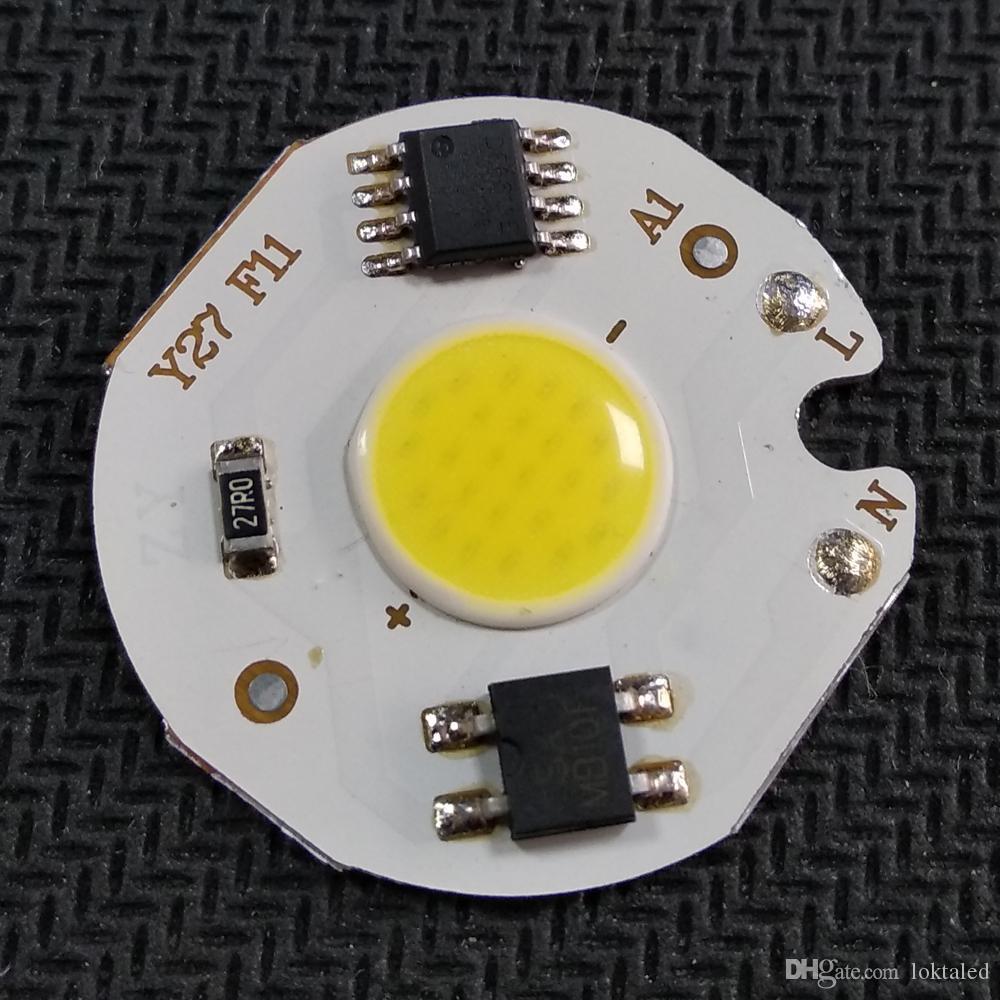 30 قطعة / الوحدة cob الصمام رقاقة 3 واط 5 واط 7 واط 9 واط لمبة مصباح 220 فولت IP65 الذكية ic سائق الخرز ضوء ل diy أضواء كاشف