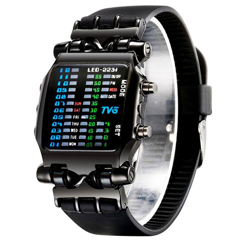 Дополнительно Наручные часы Crab Trend Noctilucent Водонепроницаемые оригинальные наручные часы Led Electronics Wrist Watch