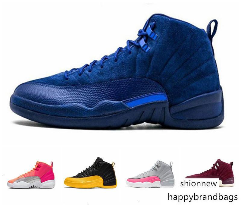 Hava jordon 12 12s FIBA CNY WNTR Erkek Basketbol Ayakkabı Ters Taksi Oyunu Kraliyet Mavi Gym Red Wings Gri erkekler spor tasarımcı spor ayakkabısı