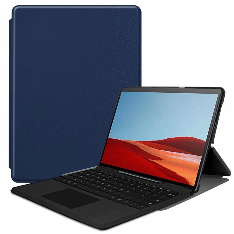 Ultra Slim PU Book Flip Case Cover for Microsoft Surface Pro X 2019 13 inch Tablet with Stand can put keyboard
