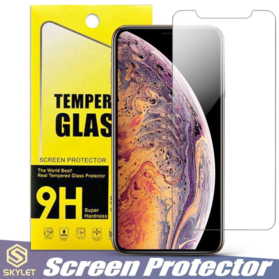 모토 E5 용 Alcatel 1X 화웨이 메이트 20 Lite iPhone XS MAX 화면 보호기 은하 S7 용 A8 2018 J3 J7 2018 LG K30 박스 용 강화 유리