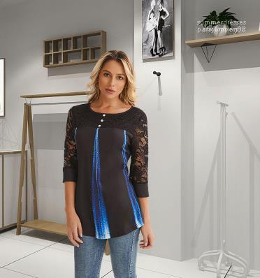 Spring Fashion Lady Coat Designer Women Tshirt Sexy Gauze Perspective Long Sleeve Loose Scoop Neck Tshirt