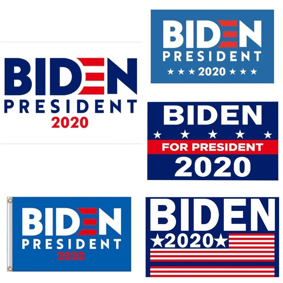 Hand Held Biden Flag 90*150Cm Mini 2020 Keep America Great Polyester Banner Flags Stick Flags 4694#289
