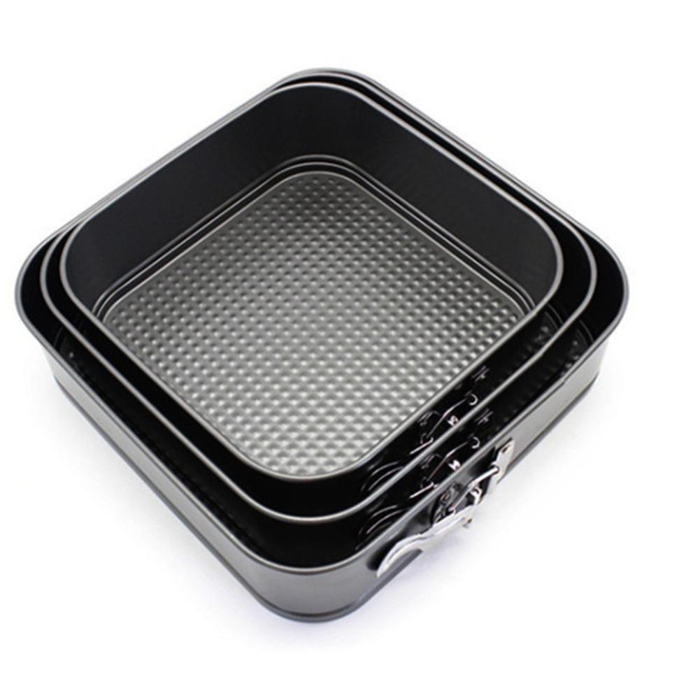 Adeeing 3Pcs / Geodreieck Non Stick Springform Kuchen Backblech Bakeware 8inches 9inches 10inches T200524