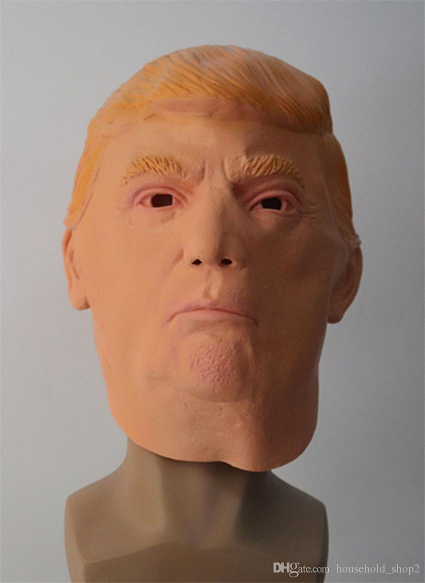Trump Costume Party Mask Halloween Realistic Latex Masquerade Carnival Mask