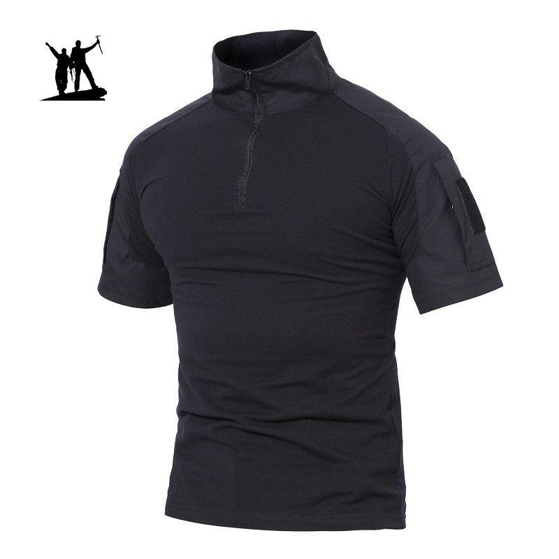Randonnée en plein air T-shirt des hommes de chasse shirt d'été militaire tactique t-shirts pêche Chemises sport à manches courtes T-shirts Vêtements