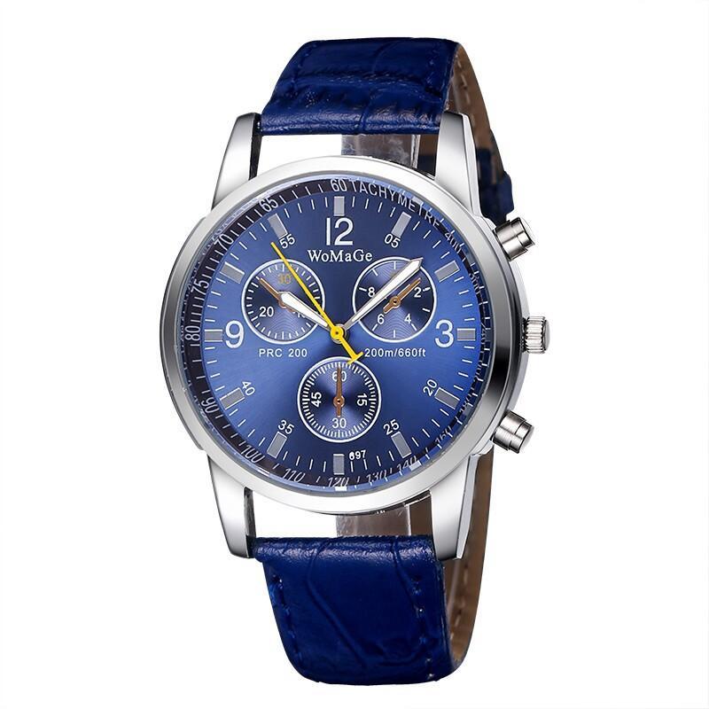 WoMaGe Casual Watch for Women Men Sports Watches Quartz Imitation Leather Strap Unisex Analog Quartz Wristwatches 100pcs/lot