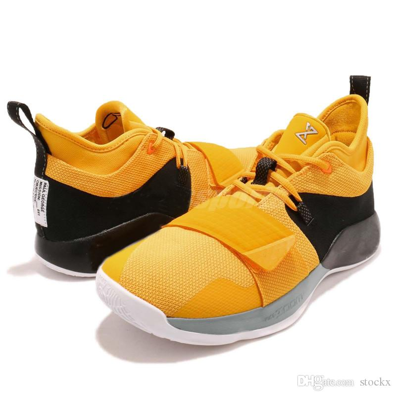 the latest 3b0f8 93f94 New PG 2.5 EP Paul George Basketball Shoes Moon Exploration Amarillo Yellow  Men Shoes BQ8453 700 For Sale With Box Women Basketball Shoes Men ...