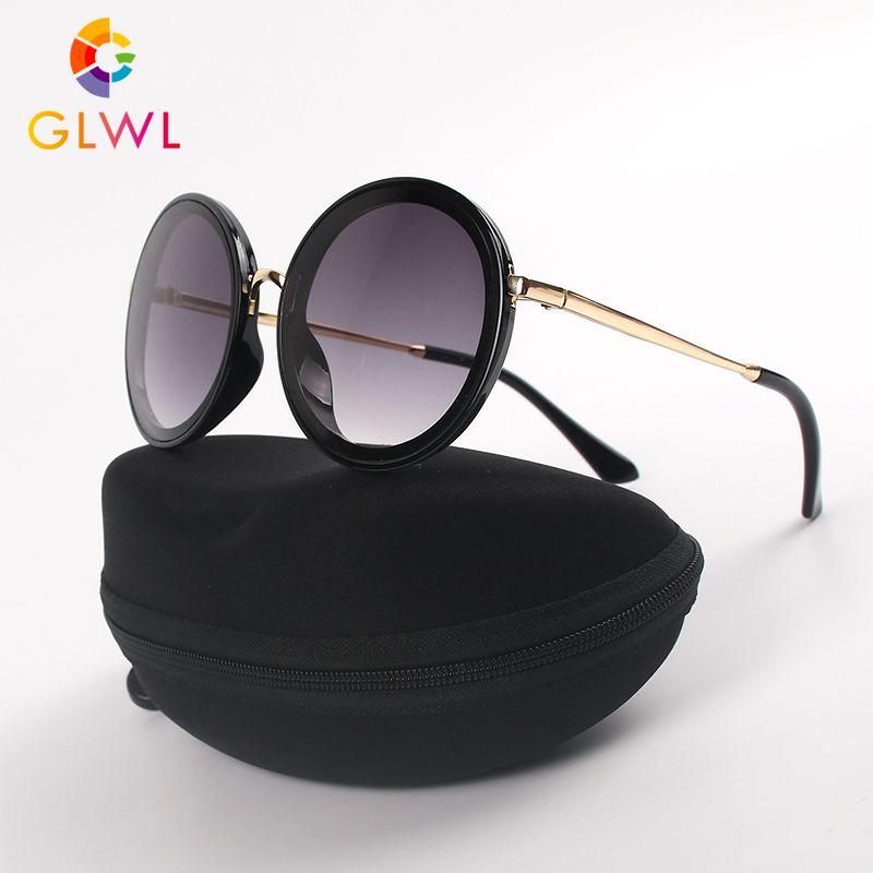 Marcos Redondo Gafas de sol Gafas de la vendimia para las señoras gafas de sol gafas con la caja de las mujeres Caso Marca sombras oculos 2020 de conducir