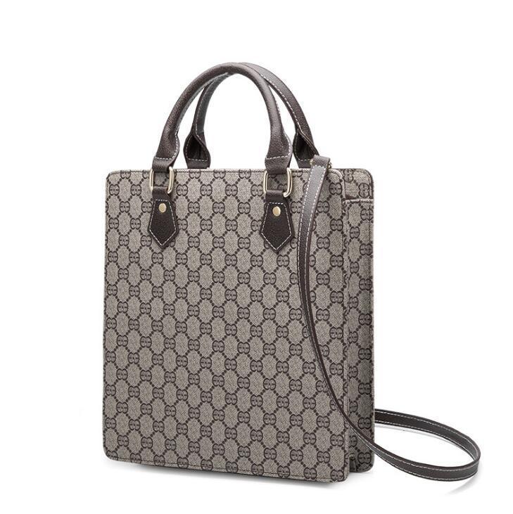 Commercio all'ingrosso donne di marca borsa classica stampata modo della borsa di affari degli uomini professionali in pelle e le donne a mano sacchetto della lima epoca sacchetto degli uomini
