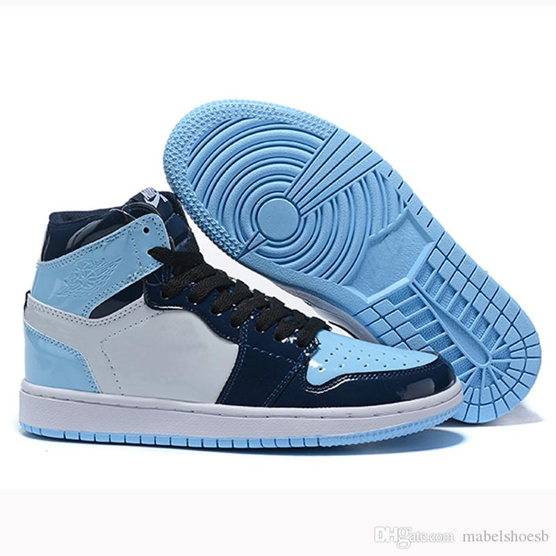 2019 Cheap 1s High Og Blue Chill Men Womens Basketball Shoes 1 Unc