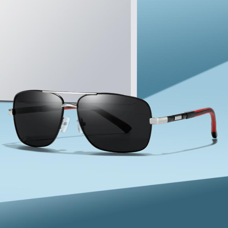 Sunglass Polarize Erkekler Sol Gafas Marka Kare Güneş Gözlüğü Sürüş Klasik Gözlük Erkek Kaplama Güneş UV400 De Tasarım Shades Metal Mbadk