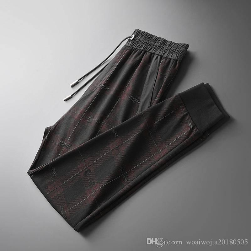 20190928 Koyu Kırmızı Ekose rahat pantolon