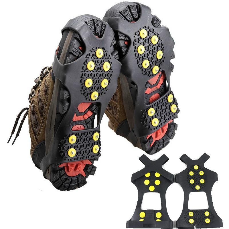 Anti glisse Snow cover Spike Crampons glace Escalade Marche Randonnée Pour Chaussures