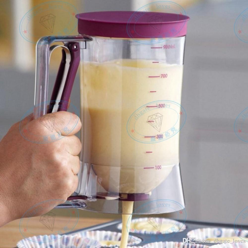 Popular DIY Tool 900ml Cupcake Pancake Batter Dispenser Muffin Helper Mix Pastry Jug Baking
